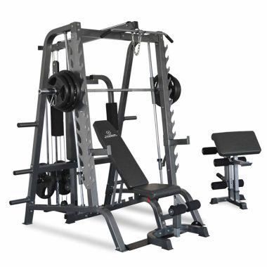 Titanium Strength Multipower - Máquina Smith + Banco Ajustável e Scott