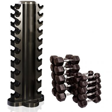 Tunturi Conjunto Halteres 1-10kg + Rack Vertical